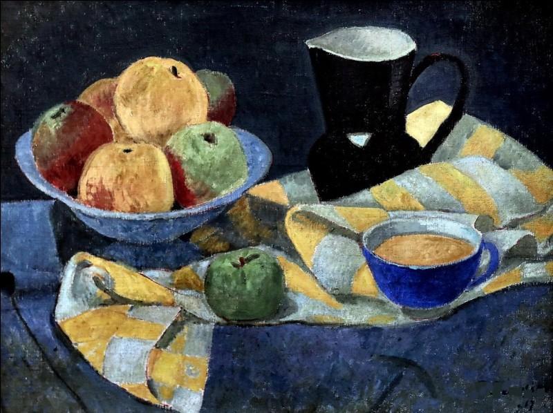 """Qui est le peintre de """"Pommes sur fond bleu"""" ?"""