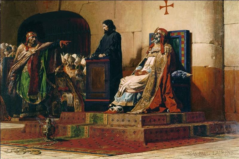 Mascarade plus qu'un procès, en 897 fut exhumé le cadavre d'un pape afin d'être jugé. Qui est-il ?