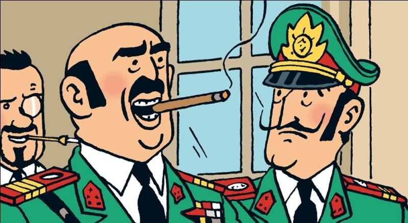 Quel est le nom de ce général dictateur (Tintin et les Picaros) ?