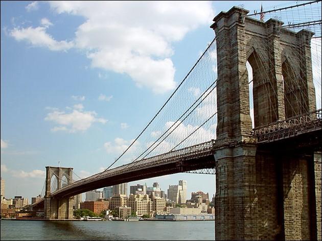 Dans quelle ville, le pont de Brooklyn (1883) est-il sis ?