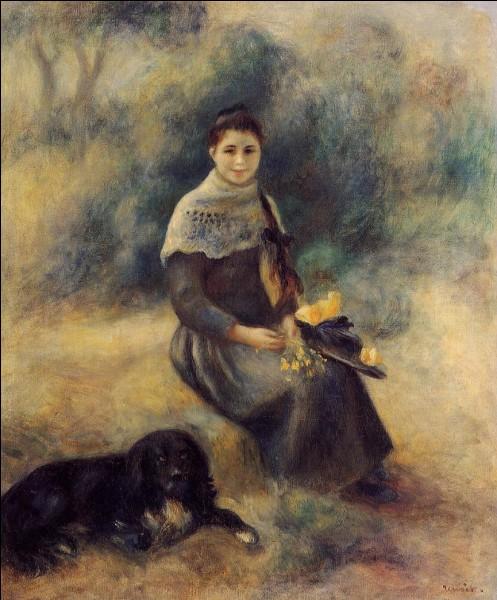 """""""Jeune fille avec un chien"""" est un tableau d' :"""