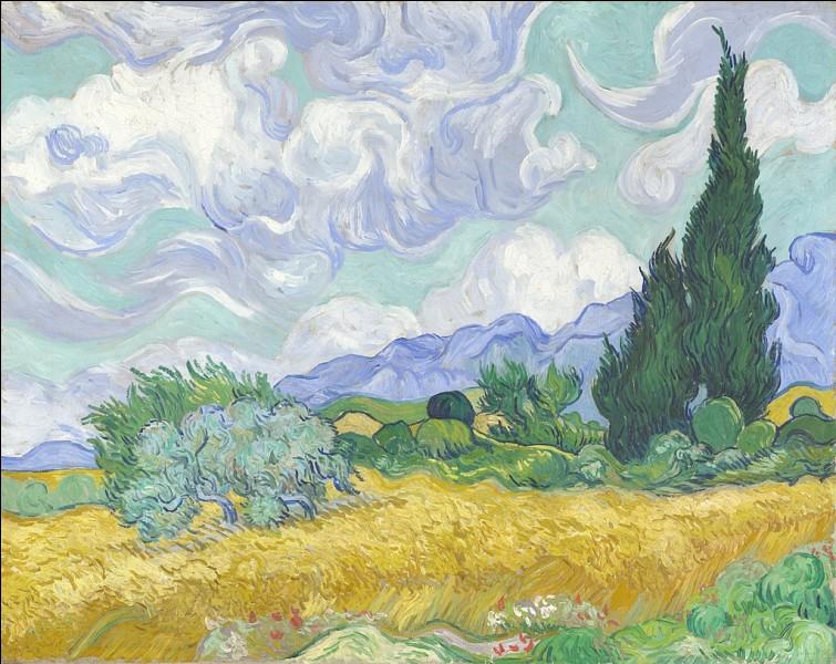 """À quel peintre doit-on le tableau """"Champ de blé avec cyprès"""" ?"""