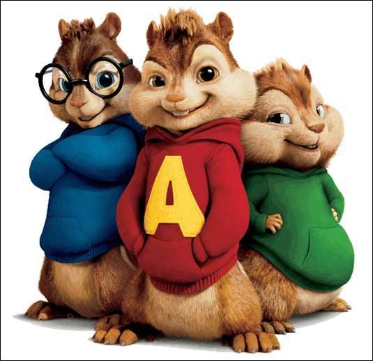 Quels sont les noms des Chipmunks?