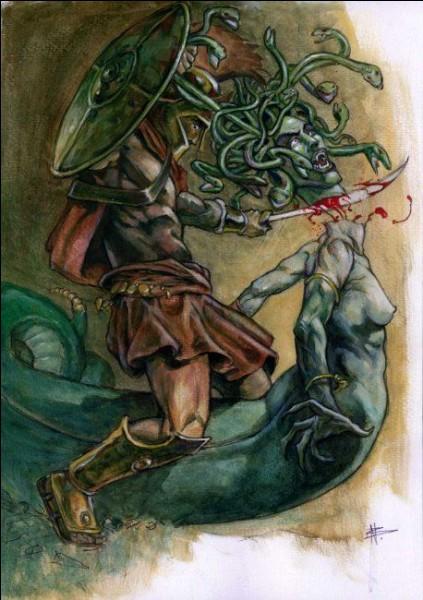 Quel Héros trancha net la tête de la Méduse ?