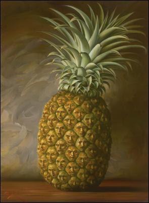 """À qui doit-on ce tableau intitulé """"Ananas Foule"""" ?"""