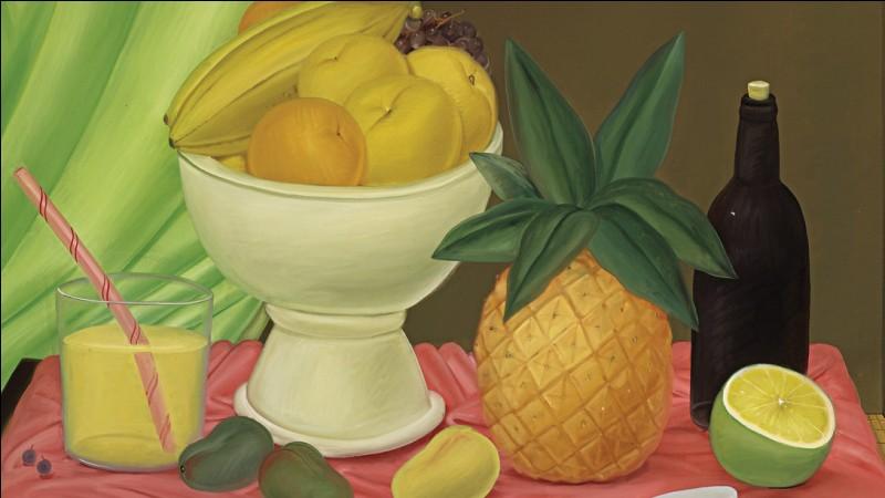 Qui a représenté ce splendide ananas sur cette nature morte ?