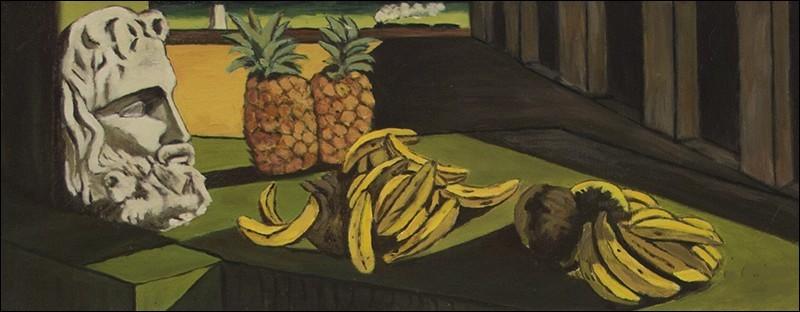 """Cette toile sur laquelle apparaît un ananas s'intitule """"Le Rêve transformé"""". Qui l'a réalisée ?"""
