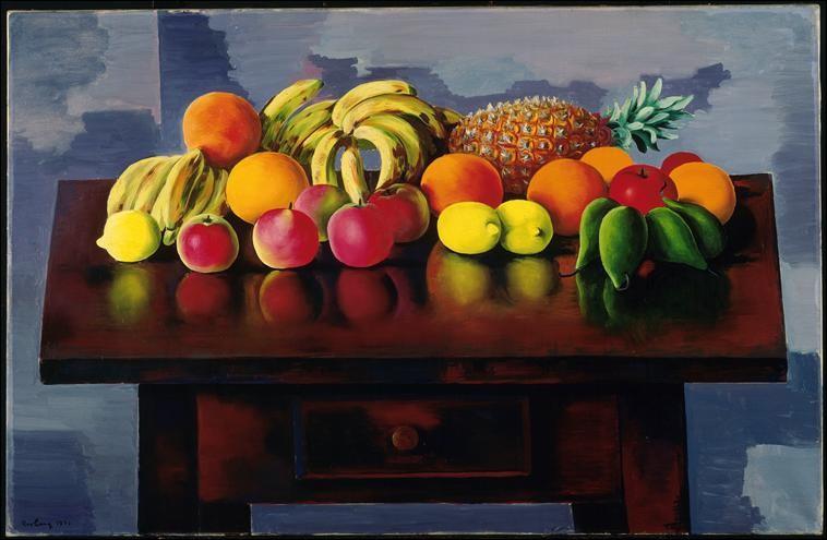 """Bel ananas sur cette toile intitulée """"Nature morte aux fruits"""" ! Qui en est l'artiste ?"""