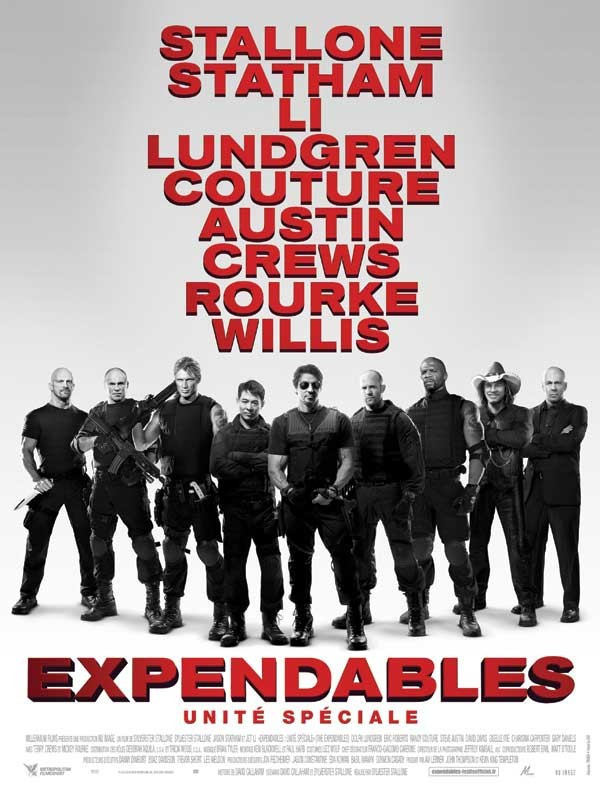 Personnages des films 'Expendables'
