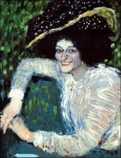 En 1901, quel surréaliste, cubiste, a exécuté ce tableau nommée ''Femme souriante au chapeau à plumes ?