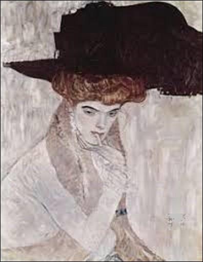 Toile dont je n'ai pas la date exacte de l'exécution, ''Chapeau noir'' est un tableau d'un symboliste. De ces trois, qui a peint cette huile ?