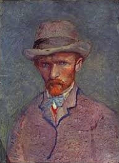Datant de 1887, ''Autoportrait au chapeau gris'' représente un maître du postimpressionnisme. Qui s'est dépeint dans ce tableau ?