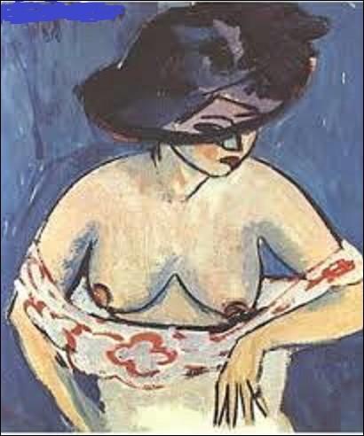 ''Demi-nu féminin avec chapeau'' est une huile sur toile réalisée en 1911. De ces trois expressionnistes, qui a réalisé ce tableau ?