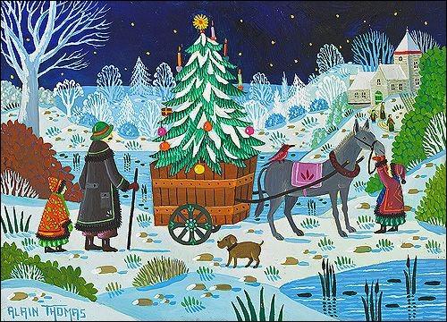Dans un chant de Noël entre quels animaux dort le petit fils ?