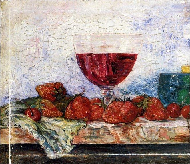 """Qui est le peintre de """"Verre de vin rouge, fraises et cerises"""" ? (vérifiez bien qu'un squelette ne soit pas caché dans un coin)"""