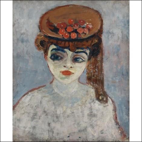 """Qui a réalisé la toile intitulée """"Chapeau de cerises"""" ?"""