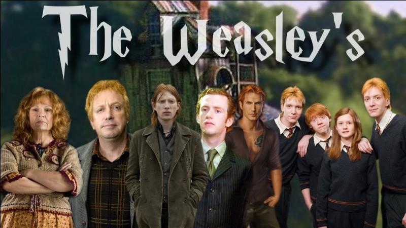 Dans la famille Weasley, dans quel ordre sont-ils nés du plus petit au plus grand ?