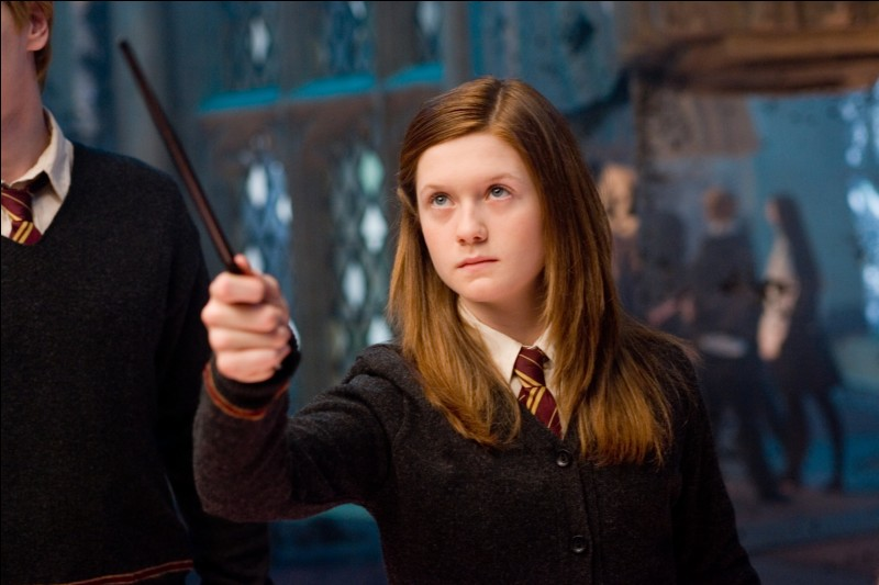 Quelle actrice a le rôle de Ginny Weasley ?