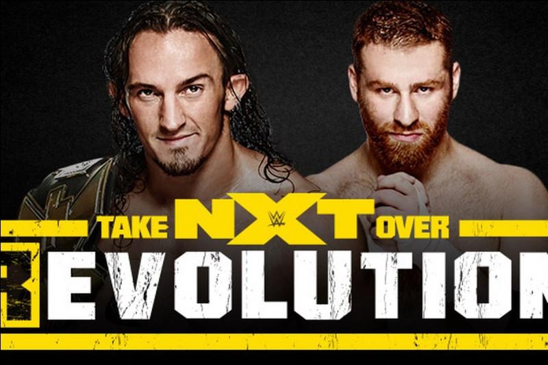 """Lors du """"NXT Takeover : R Evolution"""", quel événement a eu lieu à la fin du show ?"""