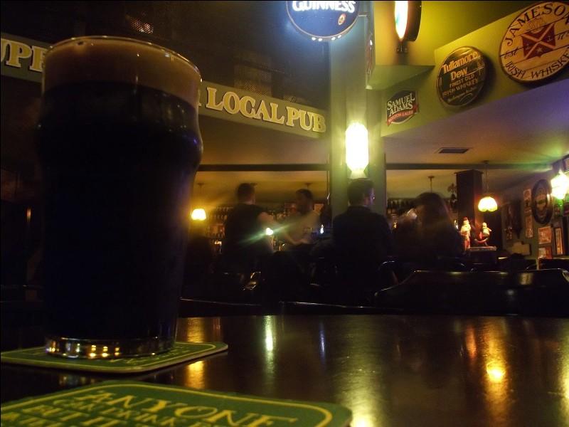 """Visitez avec moi le """"Local Pub"""" : éloigné du centre, donc pas autant accessible, il vaut le déplacement. C'est un endroit chaleureux au personnel charmant : c'est la place pour la bière dans la capitale et le pub a été classé parmi ''world's best beer bars'' ayant 20 bières en fût et 100 différentes embouteillées. La grosse pinte est à environ 7 euros. Quelle est la ville de ce pub irlandais ?"""