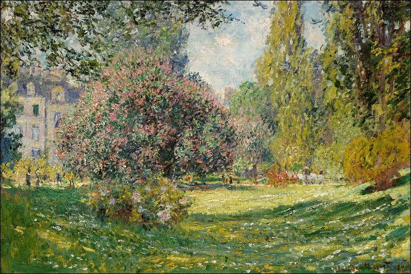 Qui est l'auteur de ce tableau intitulé ''le parc Monceau'' ?