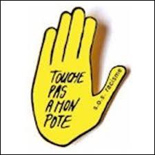 """Lors de quelle décennie SOS Racisme a-t-il lancé le slogan """"Touche pas à mon pote"""" ?"""