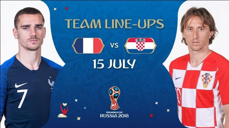 Sur quel score s'est imposée la France en finale de Coupe du monde 2018 face à la Croatie ?