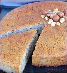 Quel est le nom de ce gâteau à base de noisettes ?