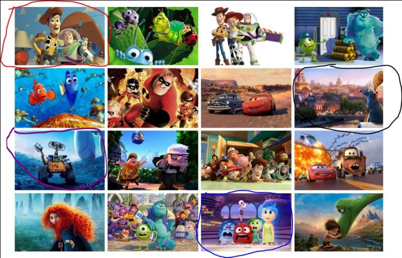 Où se trouve le film WALL-E ?