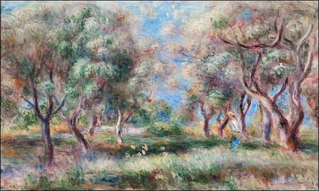 "Qui a peint ""Les Oliviers de Cagnes"" ?"