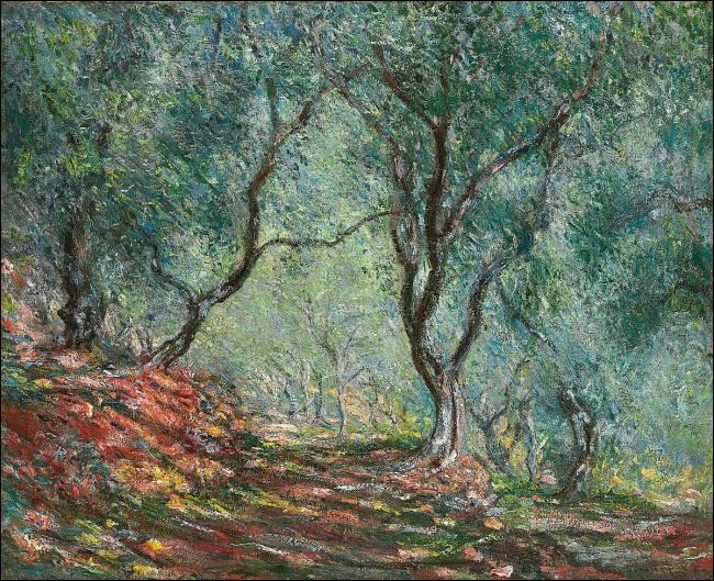 """Qui a peint """"Les Bois d'oliviers au jardin Moreno"""" ?"""