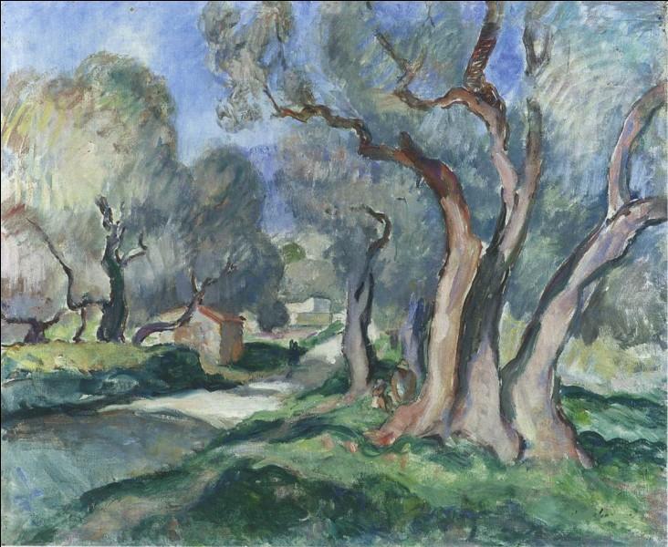 """Qui a peint """"Chemin parmi les oliviers"""" ?"""
