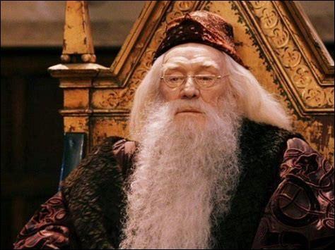 Quels sont les mots que prononce Dumbledore avant le banquet de début d'année ?