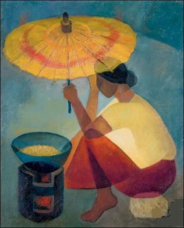 """Qui est le peintre de cette """"Femme à l'ombrelle"""" ?"""