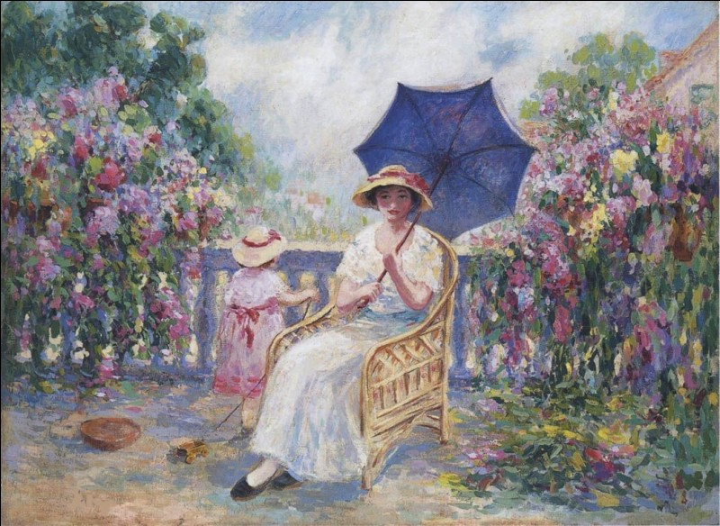 """Ce tableau s'intitule """"Sur la terrasse"""". Quel est son peintre ?"""