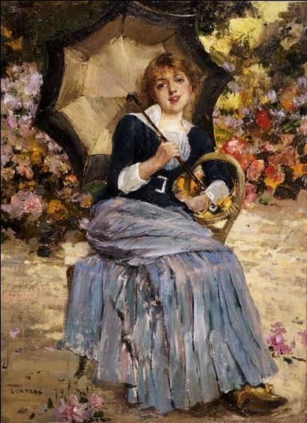 """À qui appartient la toile intitulée """"Fille à l'ombrelle"""" ?"""