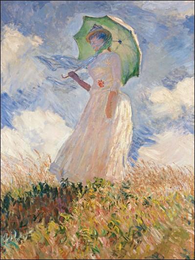 """À qui doit-on cette célèbre femme à l'ombrelle réalisée sur une toile que son peintre a intitulé """"La Promenade"""" ?"""