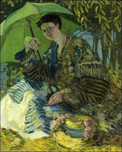 """À qui doit-on cette jolie """"Femme avec une ombrelle"""" ?"""