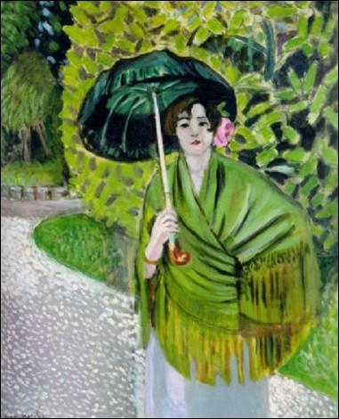 """À qui appartient """"La Femme à l'ombrelle verte"""" ?"""