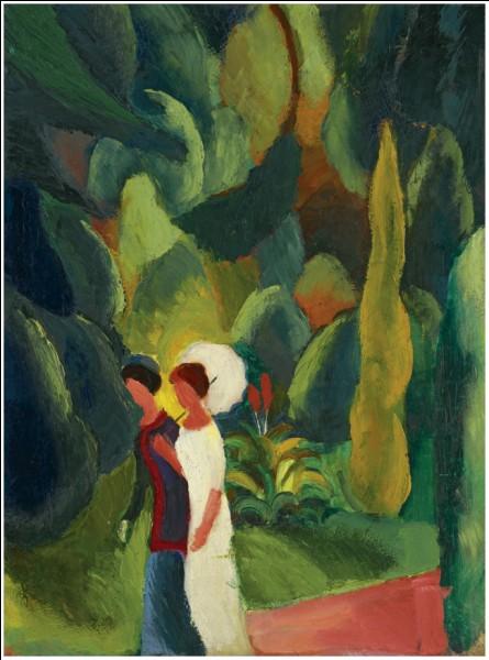 """Qui a peint """"Femmes dans le parc avec une ombrelle blanche"""" ?"""