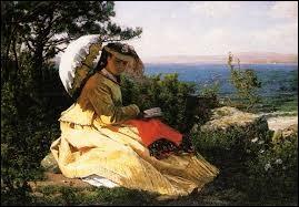 """Qui a représenté cette """"Femme à l'ombrelle"""" ?"""