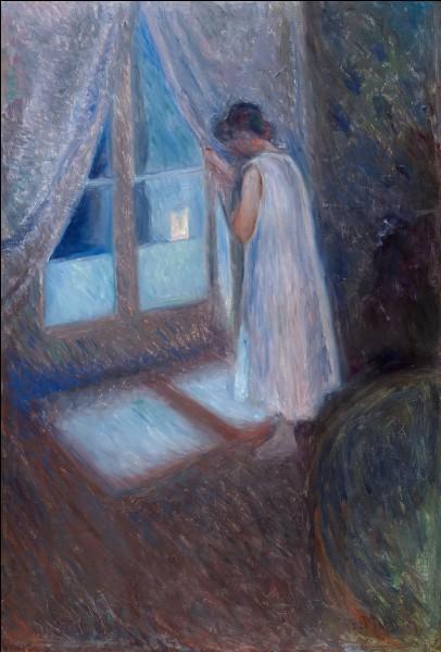 """Qui a peint le tableau """"Fille à la fenêtre"""", présent ici ?"""