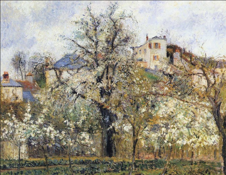 """Quel impressionniste a peint le tableau """"Printemps, pruniers en fleurs"""" ?"""