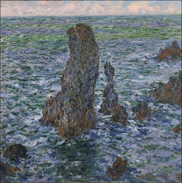 """Toujours dans l'impressionnisme, qui est l'auteur du tableau """"Les Pyramides de Port-Coton, mer sauvage"""" ?"""