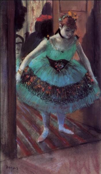 """""""Danseuse quittant sa loge"""" est un tableau du peintre :"""