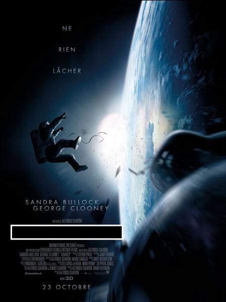 """Sandra Bullock tente de survivre dans ce """"huis clos"""" spatial haletant. Il s'agit de :"""