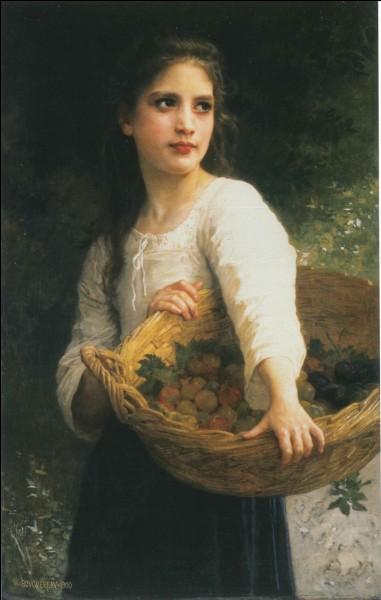 À qui doit-on cette jeune fille au panier de prunes ?