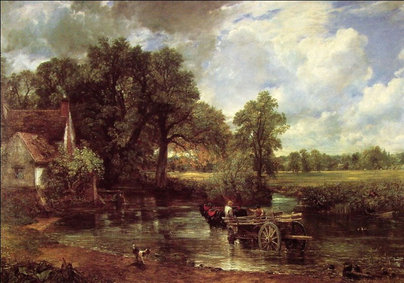 """À quel peintre anglais doit-on le tableau intitulé """"La Charette de foin"""" ?"""