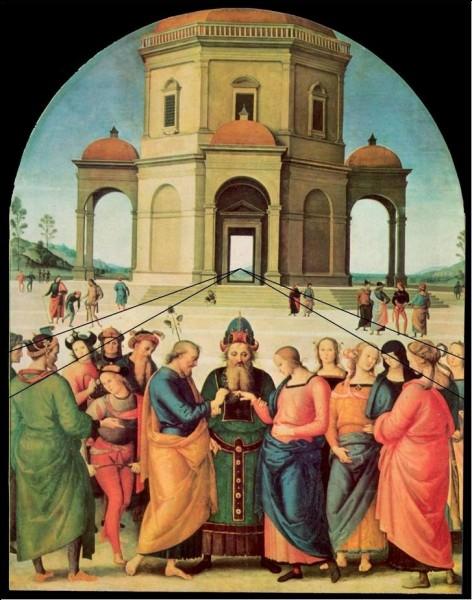 """Quel peintre de la Renaissance est l'auteur de ce tableau intitulé """"Le Mariage de la Vierge"""" ?"""