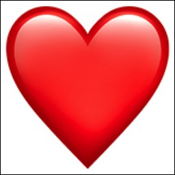 Que signifie le cœur rouge ?